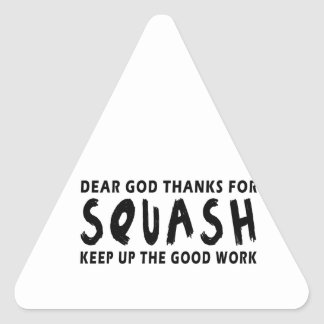 Dear God Thanks For Squash Triangle Stickers