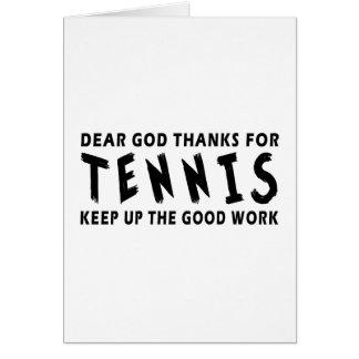 Dear God Thanks For Tennis Cards