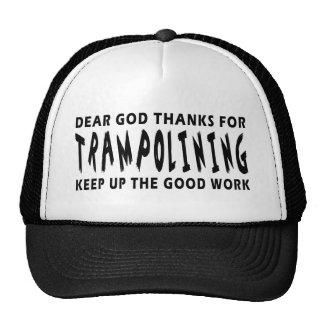 Dear God Thanks For Trampolining Trucker Hats