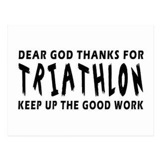 Dear God Thanks For Triathlon Post Card