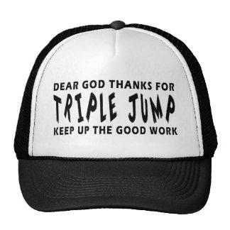 Dear God Thanks For Triple Jump Trucker Hat