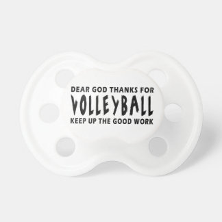 Dear God Thanks For Volleyball Baby Pacifiers