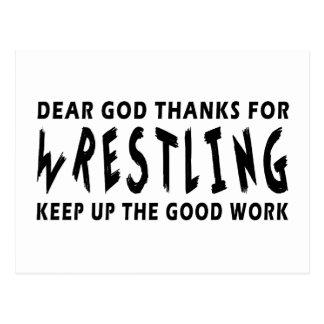 Dear God Thanks For Wrestling Postcards