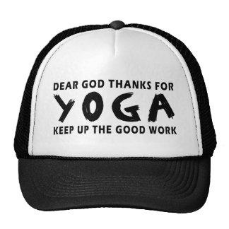 Dear God Thanks For Yoga Trucker Hats