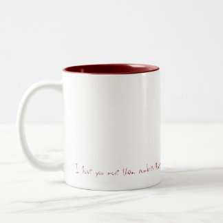 Dear, I love you lives than zombies love brain… Two-Tone Coffee Mug