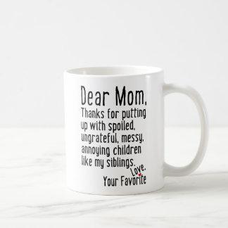Dear Mom [Siblings Version] Basic White Mug