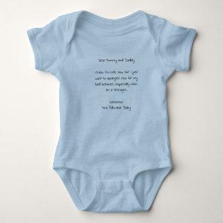 Dear Mommy and Daddy Baby Bodysuit