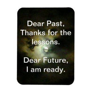 Dear Past, Dear Future Rectangular Photo Magnet