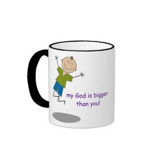 Dear problems my God is bigger than you Mug