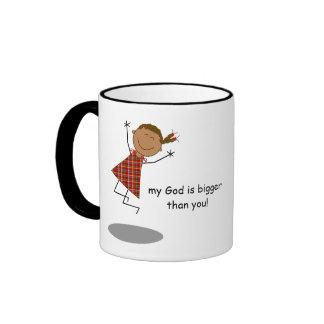 """""""Dear problems, my God is bigger than you!"""" Mug"""