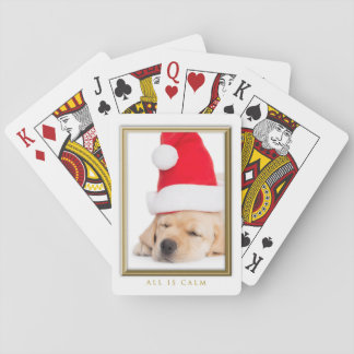 Dear Santa All is Calm Puppy Playing Cards