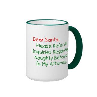 Dear Santa Attorney Coffee Mug