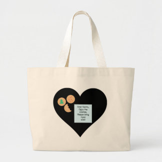 Dear Santa Cookies Bring Toys Black Heart Tote Bag