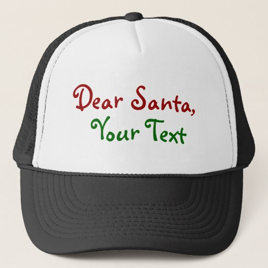 Dear Santa - Custom  Personalise Letter to Santa Trucker Hat