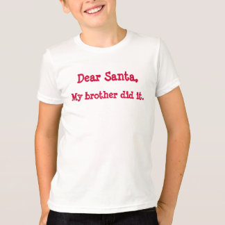 dear santa girls tee