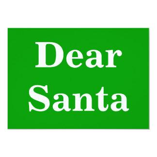 Dear Santa Gr 13 Cm X 18 Cm Invitation Card