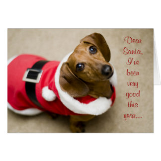 Dear Santa Greeting Card