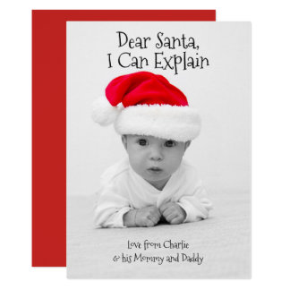 Dear Santa I Can Explain Christmas Personalised Card