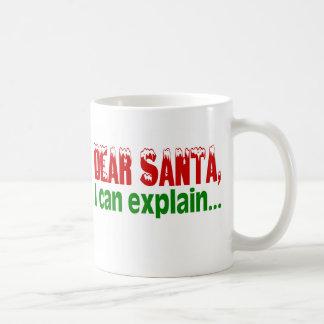 Dear Santa, I Can Explain Basic White Mug