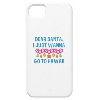 Dear Santa I Just Wanna Go To Hawaii iPhone 5 Cases