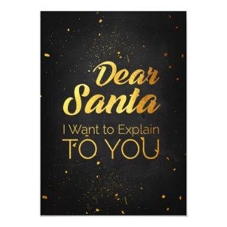 Dear Santa, I want to explain to you Card