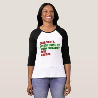 Dear Santa Impeach Trump for Christmas Funny T-Shirt