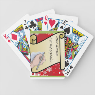 Dear Santa Let Me Explain Bicycle Playing Cards