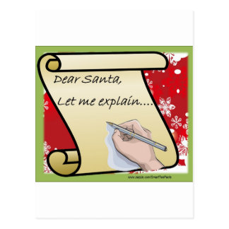 Dear Santa Let Me Explain Postcard