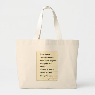 DEAR SANTA LETTER from a naughty boy Jumbo Tote Bag