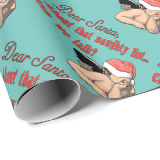 Dear Santa Naughty List Wrapping Paper
