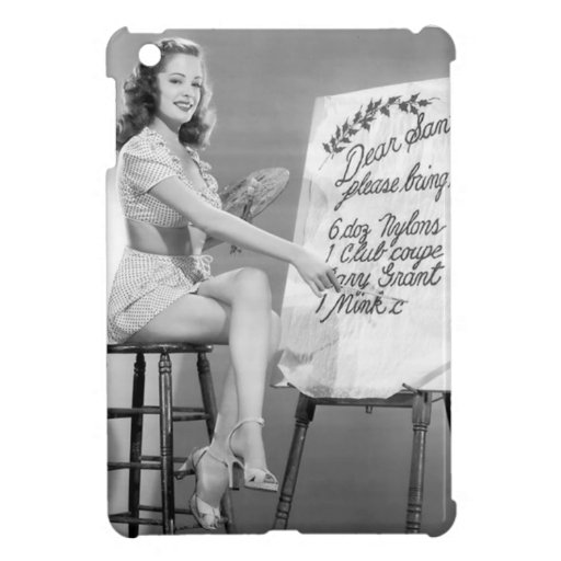 Dear Santa Pinup Girl iPad Mini Cases