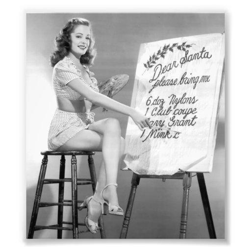Dear Santa Pinup Girl Photo