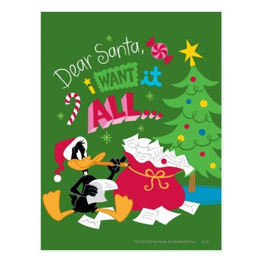 Dear Santa Postcard