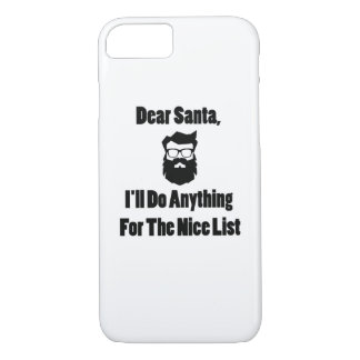 Dear Santa She Has Been Naughty Matching Christmas iPhone 8/7 Case