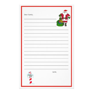 Dear Santa Stationary! Template Stationery
