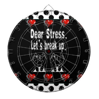 Dear Stress, Let's Break Up Gift Product Dartboard With Darts