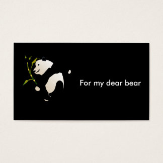 Dear to bear business card