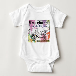 Dearborn - It All Started Here - apparel Baby Bodysuit