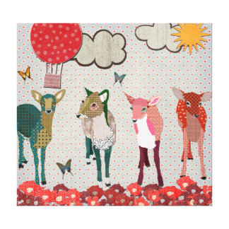 Dearest Deer Sunny Day Canvas Art Stretched Canvas Prints