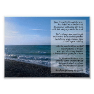 Dearest Friend Poem By the Sea Poster