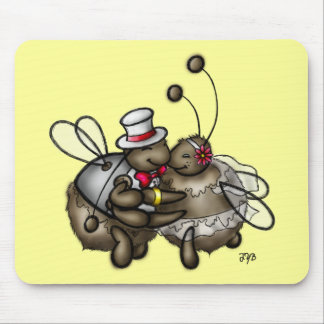 Dearly Bee-Loved Mouse Pad