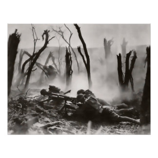 DEATH and DESTRUCTION in WW1 NO MAN's LAND Poster