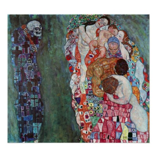 Death and Life by Gustav Klimt Poster