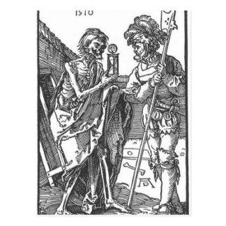 Death and the Landsknecht by Albrecht Durer Postcard