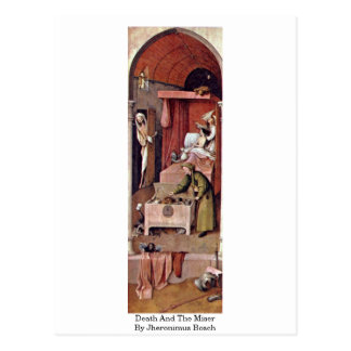 Death And The Miser By Jheronimus Bosch Postcard