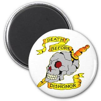 Death Before Dishonor Skull & Dagger Tattoo Magnet