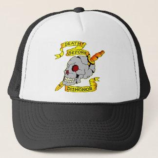 Death Before Dishonor Skull & Dagger Tattoo Trucker Hat