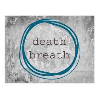 Death Breath Funny Postcard
