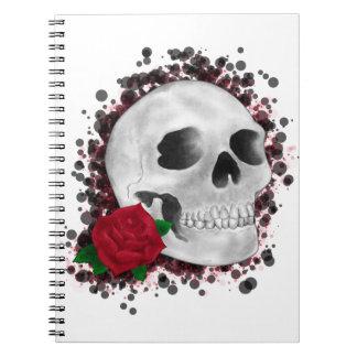 Death By Beauty Design Spiral Notebook