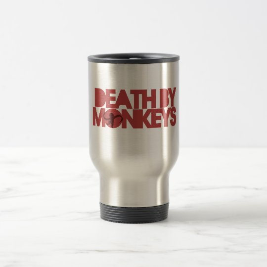 Death by Monkeys Travel Mug